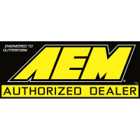"AEM 10-912-1 Sign, Window Cling, 11""x 4-1/2"", ""Auth. Dealer"", DBL Sided"