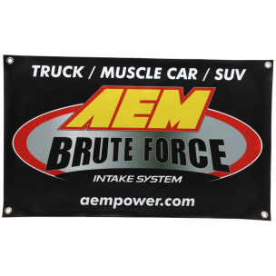 "AEM 10-924S Banner, Brute Force 30"" x 18"""