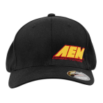 AEM 01-1402-XXXL Hat, AEM, Black With Yellow Logo, 2XL/3XL