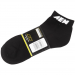 AEM 01-1600-L Socks, Aem Logo, Black W/White, Ankle Sport (2pr Per Pack) - Men