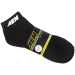 AEM 01-1600-XL Socks, Aem Logo, Black W/White, Ankle Sport (2pr Per Pack) - Men