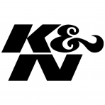 "K&N 89-0002 Decal: Die Cut, 2-1/4"" X 1-1/8"" Gloss Black"