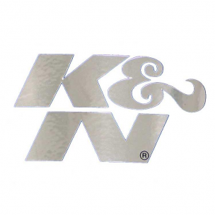 "K&N 89-0003 Decal, Die Cut, 2-1/4"" X 1-1/8"", Chrome"