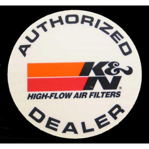 K&N 89-0050 Decal, Auth. Dealer, 5""