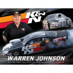 K&N 89-11579 Hero Card, Warren Johnson, 8-1/2 x 11